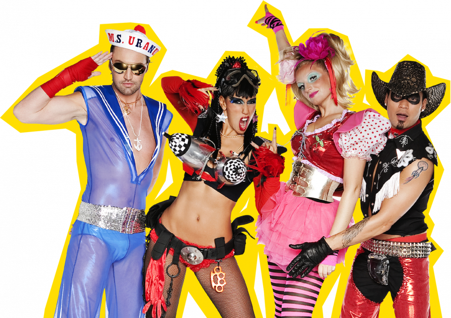 Vengaboys members from left to right: Robin, Kim, Denise and Donny