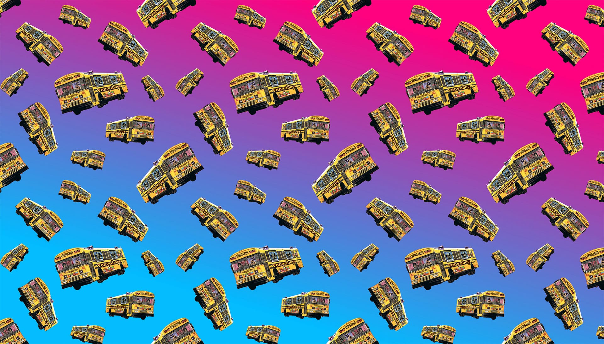 Vengaboys Homepage background pattern with the vengabus